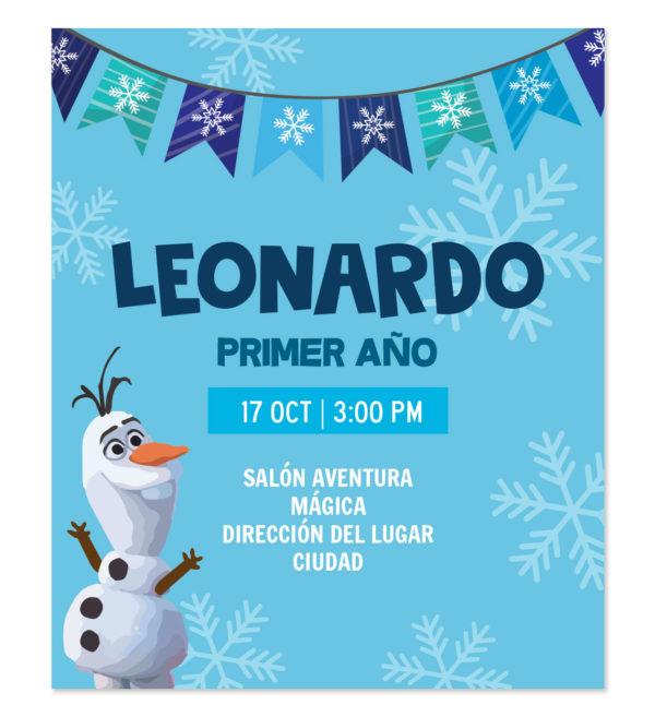 Invitación Cumpleaños Olaf