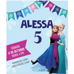 Invitación Ana y Elsa Frozen