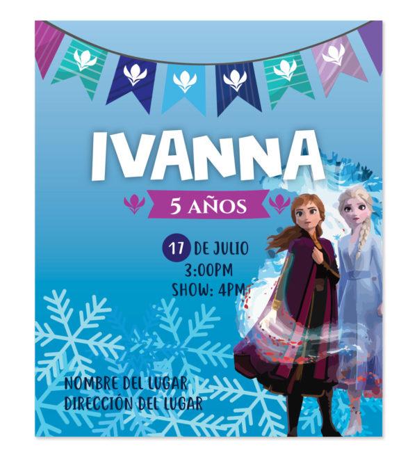 Invitación Ana y Elsa Frozen 2