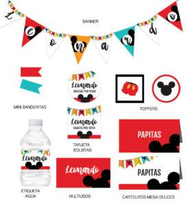 Kit Infantil Cumpleaños Mickey