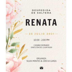 Invitacion Soltera Flores Laterales