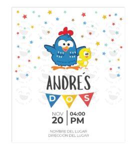 Invitación Cumpleaños Gallinita Pintada