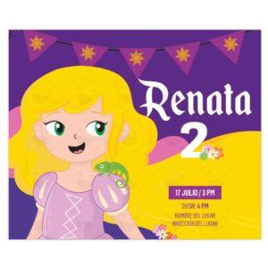 Invitación princesa rapunzel