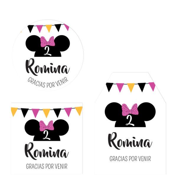 Etiqueta Agradecimiento Minnie Fiesta