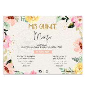 Invitación Mis Quince Flores Primavera