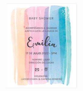 Invitación Baby Shower Rayas